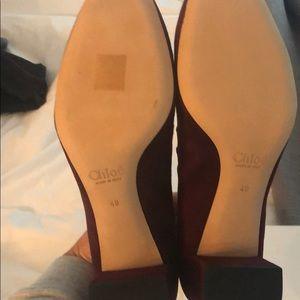 Chloe Shoes - Chloe scalloped suede pump